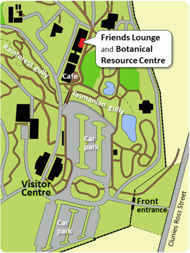 Map of the Gardens showing the Botanical Resource Centre