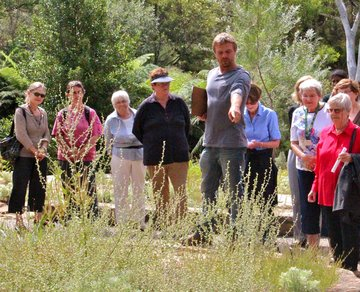 David Taylor teaching Friends of the Gardens