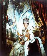 Portrait of Queen Elizabeth at her coronation