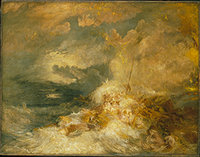 'A Disaster at Sea' by JMW Turner