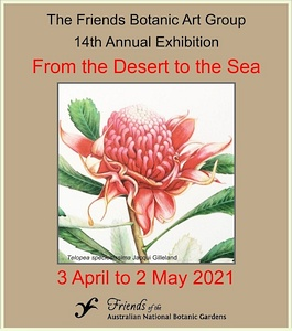 Poster for the Botanic Art Group 2021 exhibition