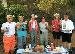 Bushwalkers toast the Bushland Precinct lookout - Photo: Matt Plaistowe