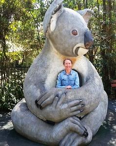 Dr Karen Ford and Koala