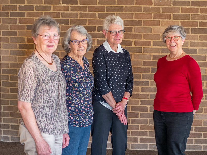 2020 Life Members: Lesley Harland, Marion Jones, Anne Rawson, Barbara Podger (Photo: Brian Moir)