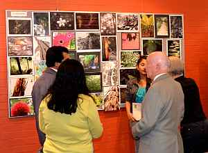 At the opening         Photo: Graham Brown
