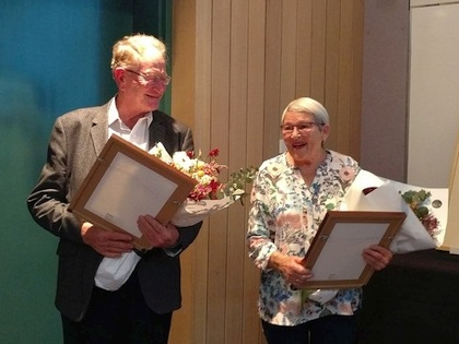 New Life Members, John and Maureen Connolly, with their awards