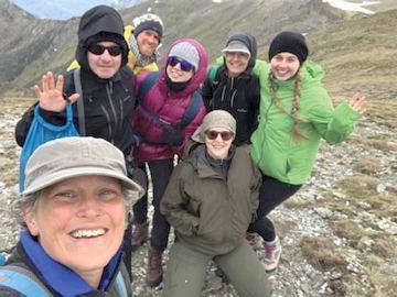 A LOTE team enjoying a working fieldtrip in the Australian Alps
