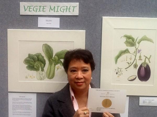 Vegie Might: RHS Medal winner Nilavan Adams