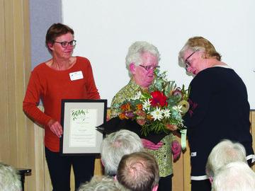 Helen Elliot, Kath Holtzapffel and Lesley Jackman, 2016 AGM. Photo: David Cox